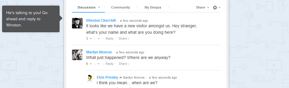 nuovo sistema di commenti